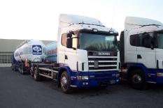 Scania von Sinn nach Zwevezele (Belgien) 440 km
