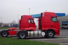 Volvo von Gent (Belgien) nach Vehlow 780 km